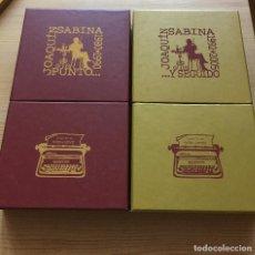Catálogos de Música: JOAQUIN SABINA ''PUNTO... Y SEGUIDO'' 2 CAJAS 18 CDS + 2 DVD DESCATALOGADO 1980 - 1990/1992 - 2005. Lote 143113578