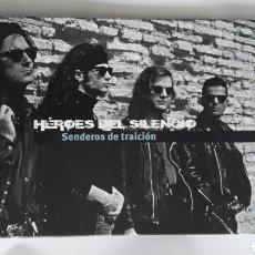 Catálogos de Música: HÉROES DEL SILENCIO SENDEROS DE TRAICIÓN LIBRO SIN CD. Lote 143882804