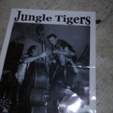 Catálogos de Música: JUNGLE TIGERS TARJETA PROMOCIONAL ROCKABILLY. Lote 143910386