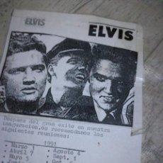 Catálogos de Música: FLYER ELVIS ROCKABILLY. Lote 143910642