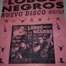 Catálogos de Música: LOBOS NEGROS ROCKABILLY PSYCHOBILLY FLYER. Lote 143916894