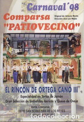 LIBRETO COMPARSA PATIOVECINO - CARNAVAL 1998. - MARTIN, ANTONIO - A-C-1997 (Música - Catálogos de Música, Libros y Cancioneros)