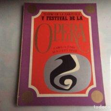 Catálogos de Música: V FESTIVAL DE LA ÓPERA. TEATRO DE LA ZARZUELA. MADRID, 1968. CATÁLOGO.. Lote 145974254