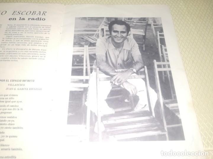 Catálogos de Música: Cancionero manolo escobar en la película me debes un muerto ED. Alas 10 ptas 1971 m. Fotos - Foto 2 - 147753150