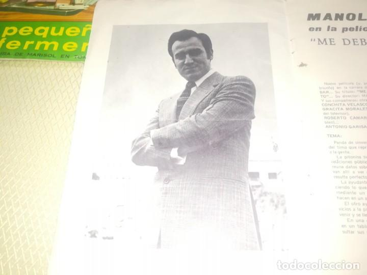 Catálogos de Música: Cancionero manolo escobar en la película me debes un muerto ED. Alas 10 ptas 1971 m. Fotos - Foto 5 - 147753150