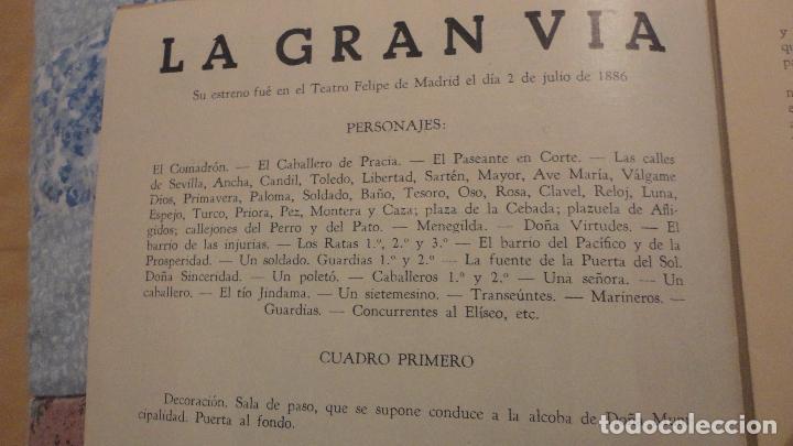 Catálogos de Música: LA GRAN VIA.FELIPE PEREZ GONZALEZ.CHUECA Y VALVERDE.REVISTA MADRILEÑA COMICO-LIRICA-CALLEJERA - Foto 2 - 147778094