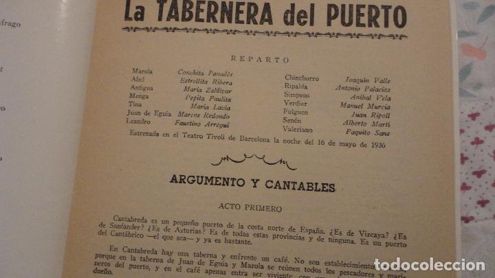Catálogos de Música: LA TABERNERA DE PUERTO.ROMANCE MARINERO.FEDERICO ROMERO.FERNANDEZ SHAW.PABLO SOLOZABAL - Foto 2 - 147778462