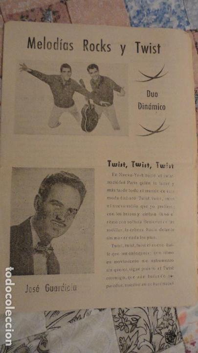 MELODIAS ROCKS Y TWIST.DUO DINAMICO.JOSE GUARDIOLA. (Música - Catálogos de Música, Libros y Cancioneros)