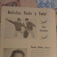 Catálogos de Música: MELODIAS ROCKS Y TWIST.DUO DINAMICO.JOSE GUARDIOLA.. Lote 194971980