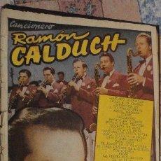 Catálogos de Música: CANCIONERO RAMON CALDUCH. EDICIONES BISTAGNE.BARCELONA 1959. Lote 147779582