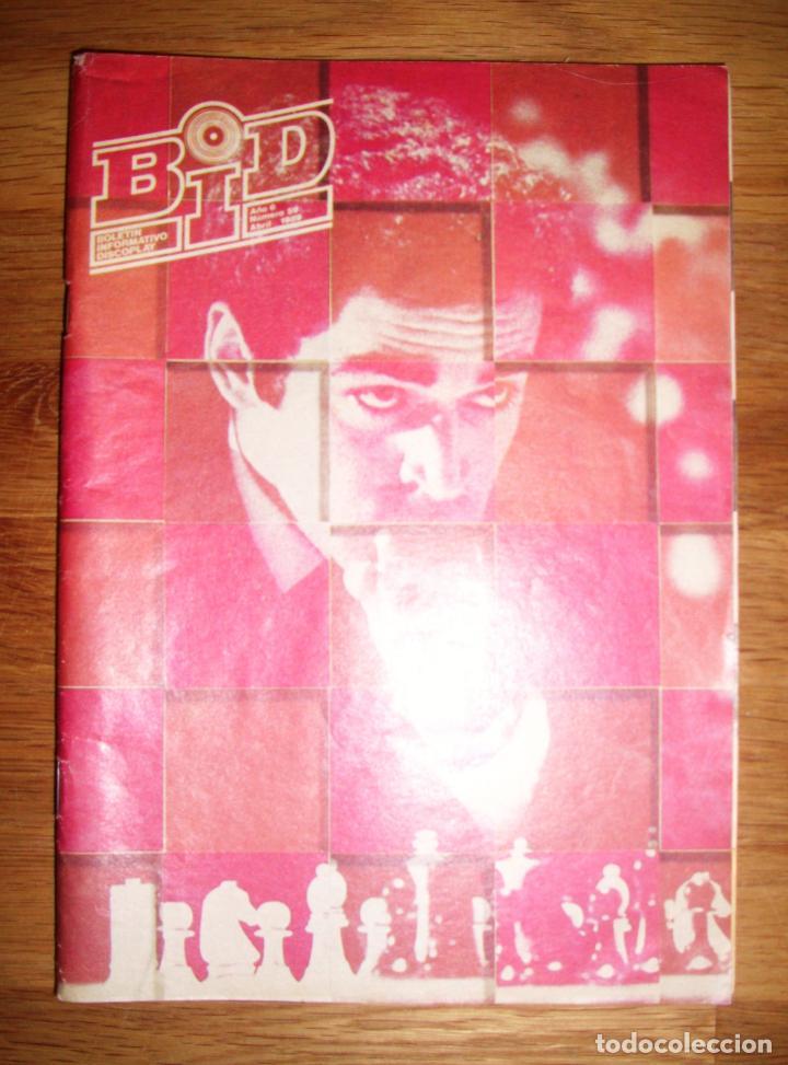 BID : BOLETÍN INFORMATIVO DISCOPLAY. AÑO 6 ; Nº 59 ; ABRIL 1989 (Música - Catálogos de Música, Libros y Cancioneros)