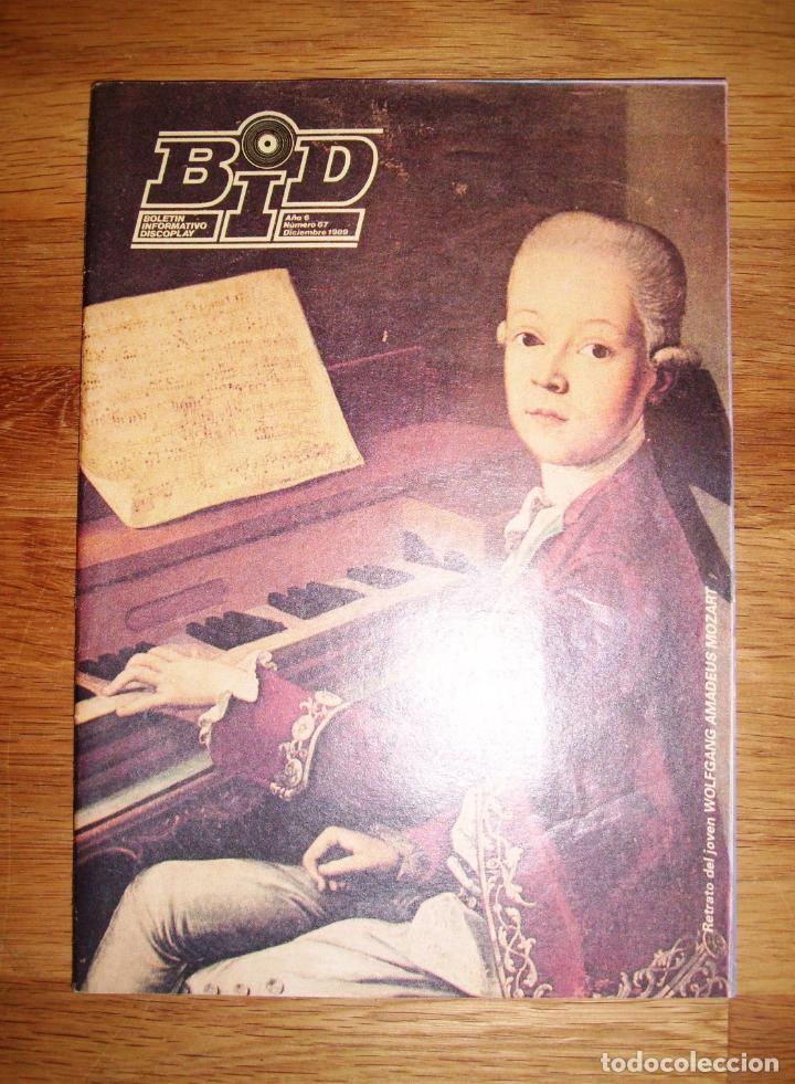 BID : BOLETÍN INFORMATIVO DISCOPLAY. AÑO 6 ; Nº 67 ; DICIEMBRE 1989 (Música - Catálogos de Música, Libros y Cancioneros)
