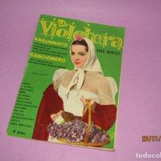 Catálogos de Música: ARGUMENTO Y CANCIONES DE LA VIOLETERA CON SARA MONTIEL DE EDIT. FHER AÑO 1958.. Lote 149067014