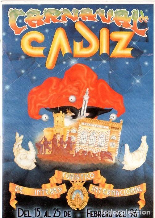 CARNAVAL DE CADIZ. TURISTICO DE INTERES INTERNACIONAL. DEL 15 AL 25 FEBRERO DEL 1996. (Música - Catálogos de Música, Libros y Cancioneros)