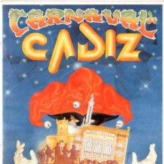 Catálogos de Música: CARNAVAL DE CADIZ. TURISTICO DE INTERES INTERNACIONAL. DEL 15 AL 25 FEBRERO DEL 1996.. Lote 149452094