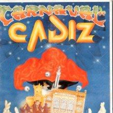 Catálogos de Música: CARNAVAL DE CADIZ. TURISTICO DE INTERES INTERNACIONAL. DEL 15 AL 25 FEBRERO DEL 1996.. Lote 149452126