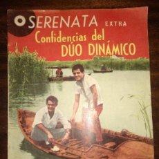 Catálogos de Música: SERENATA EXTRA CONFIDENCIAS DEL DÚO DINÁMICO REVISTA JUVENIL FEMENINA AÑOS 60. Lote 150065526