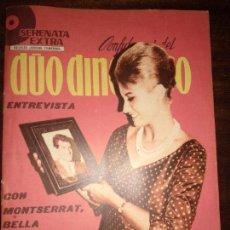 Catálogos de Música: SERENATA EXTRA CONFIDENCIAS DEL DÚO DINÁMICO REVISTA JUVENIL FEMENINA AÑOS 60 CON MONTSERRAT. Lote 150065786