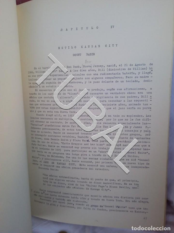 Catálogos de Música: TUBAL 1974 JAZZ MANUSCRITO BOB POR JORGE DE GISPERT 110 FOLIOS DIBUJOS MONTADOS ILUMINADOS A MANO G5 - Foto 3 - 150984542