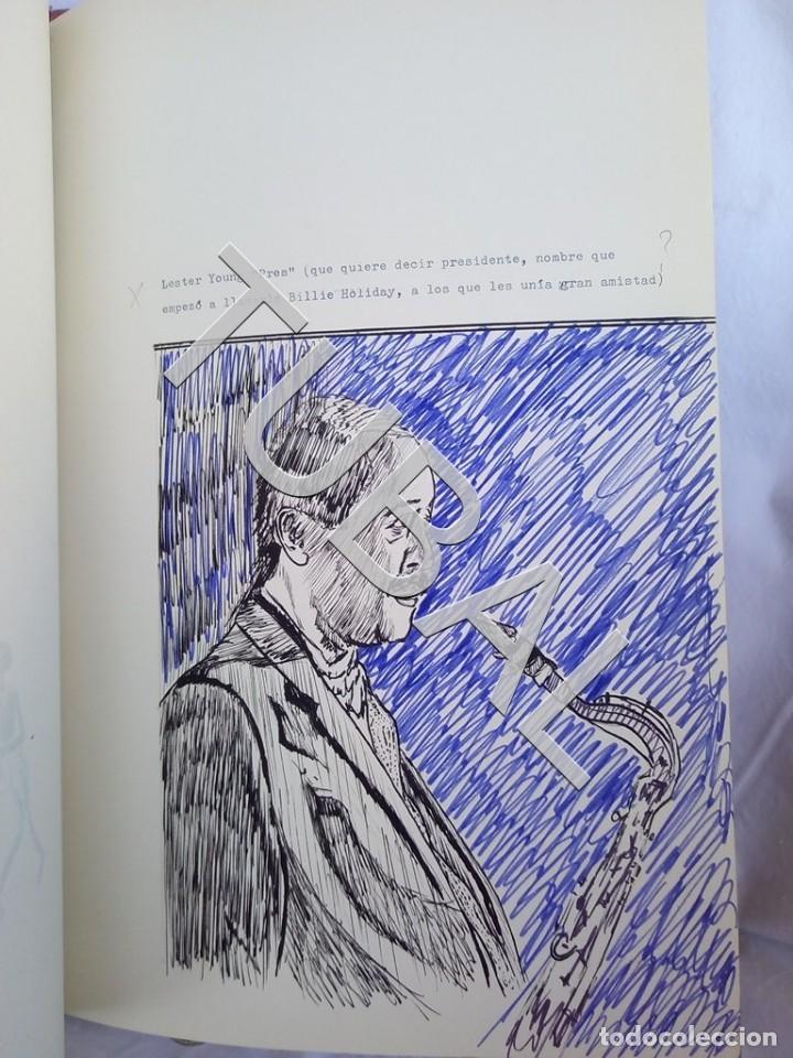 Catálogos de Música: TUBAL 1974 JAZZ MANUSCRITO BOB POR JORGE DE GISPERT 110 FOLIOS DIBUJOS MONTADOS ILUMINADOS A MANO G5 - Foto 5 - 150984542