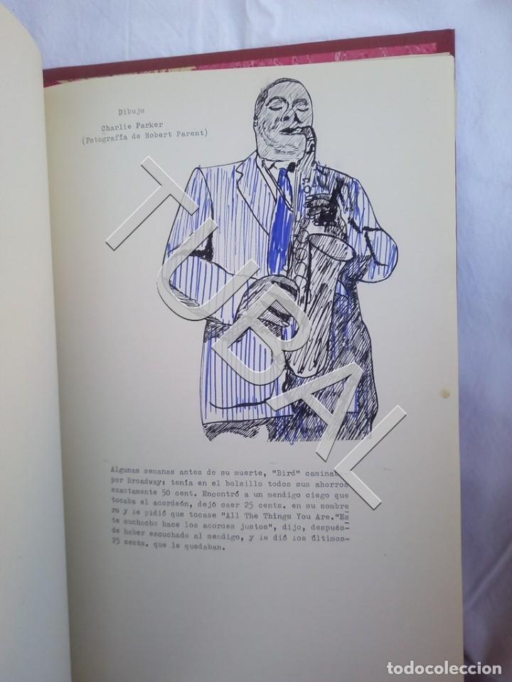 Catálogos de Música: TUBAL 1974 JAZZ MANUSCRITO BOB POR JORGE DE GISPERT 110 FOLIOS DIBUJOS MONTADOS ILUMINADOS A MANO G5 - Foto 7 - 150984542