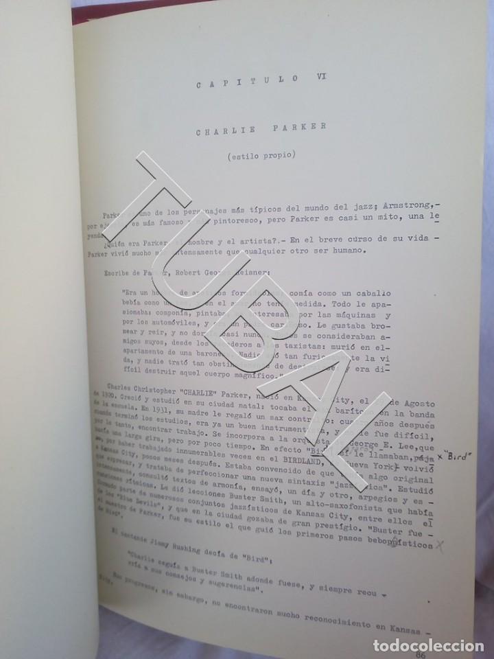 Catálogos de Música: TUBAL 1974 JAZZ MANUSCRITO BOB POR JORGE DE GISPERT 110 FOLIOS DIBUJOS MONTADOS ILUMINADOS A MANO G5 - Foto 8 - 150984542