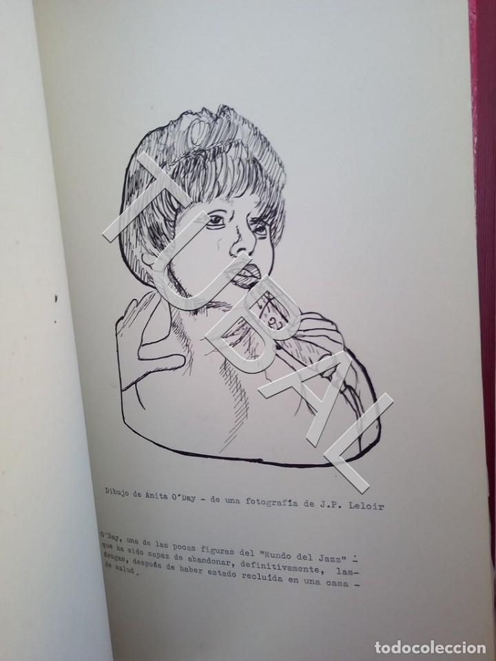 Catálogos de Música: TUBAL 1974 JAZZ MANUSCRITO BOB POR JORGE DE GISPERT 110 FOLIOS DIBUJOS MONTADOS ILUMINADOS A MANO G5 - Foto 15 - 150984542
