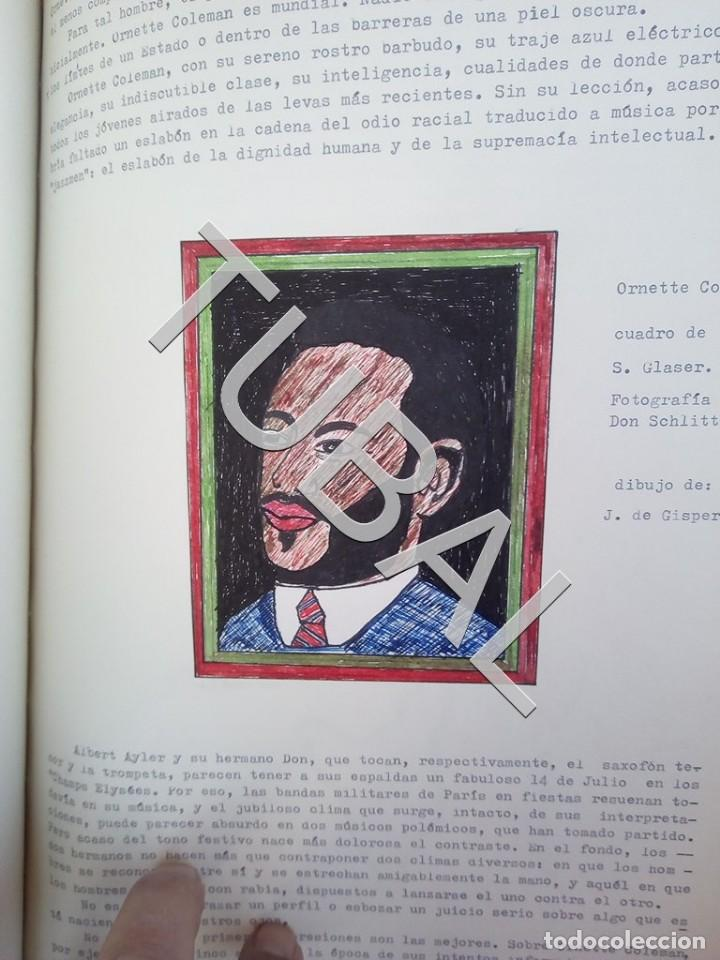 Catálogos de Música: TUBAL 1974 JAZZ MANUSCRITO BOB POR JORGE DE GISPERT 110 FOLIOS DIBUJOS MONTADOS ILUMINADOS A MANO G5 - Foto 21 - 150984542