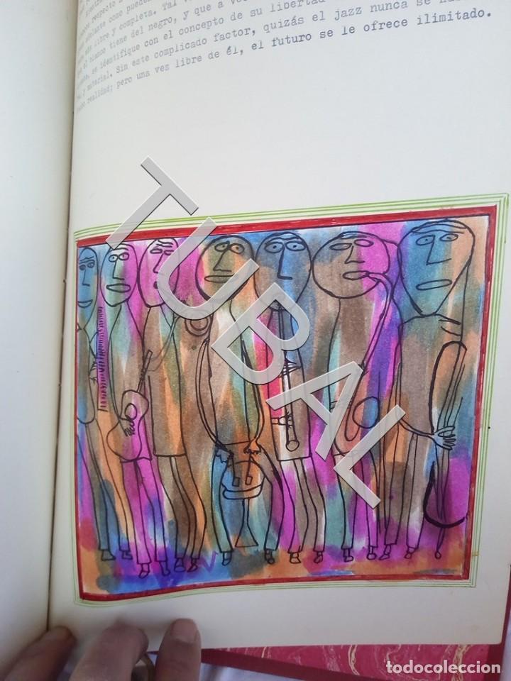 Catálogos de Música: TUBAL 1974 JAZZ MANUSCRITO BOB POR JORGE DE GISPERT 110 FOLIOS DIBUJOS MONTADOS ILUMINADOS A MANO G5 - Foto 23 - 150984542