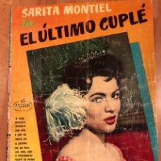 Catálogos de Música: CANCIONERO SARA SARITA MONTIEL EL ÚLTIMO CUPLE. Lote 151174964