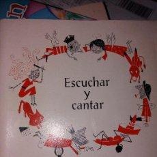 Catálogos de Música: ESCUCHAR Y CANTAR RAYMOND N.JACOVETTI. ÚNICO EN TODOCOLECCION. Lote 151532050