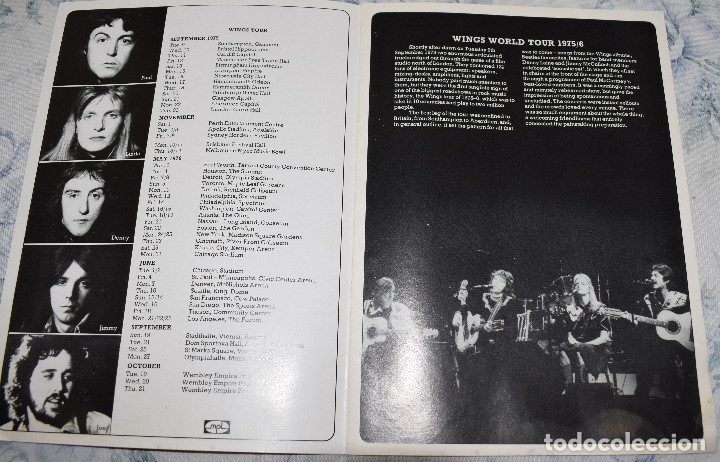 Paul McCartney and Wings Wings Over America UK press book - WORLD TOUR 1975  / 6