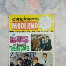 Catálogos de Música: CANCIONERO LOS BEATLES EN ESPAÑA ROLLING STONES 1965. Lote 153264602