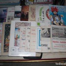 Catálogos de Música: LOTE DE 17 LIBRETOS DE AGRUPACIONES DEL CARNAVAL DE CÁDIZ. Lote 153200790