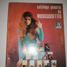 Catálogos de Música: CATÁLOGO MÚSICA CASET CASSETTES AÑO 1970. Lote 154427769
