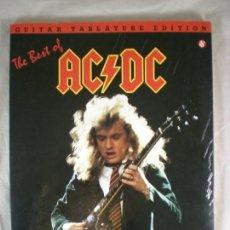 Catálogos de Música: TABLATURA AC DC - THE BEST OF AC/DC - 1990 - LIBRO PARTITURAS. Lote 155311914