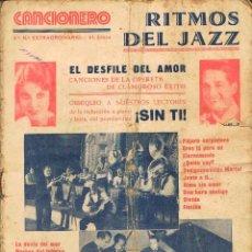 Catálogos de Música: RITMOS DE JAZZ, CANCIONERO DE EDITORIAL ATLAS 2º NÚMERO EXTRAORDINARIO. Lote 156731622