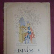 Catálogos de Música: HIMNOS Y CANCIONEROS(CANTO Y PIANO)MADRID 1942.42 PAGINAS FOLIO MAYOR.. Lote 156870910