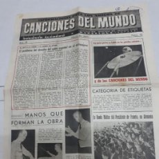 Catálogos de Música: 11251 - CANCIONES DEL MUNDO - Nº 21. Lote 156933650
