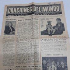 Catálogos de Música: 11249 - CANCIONES DEL MUNDO - Nº 19. Lote 156934590