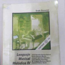 Catálogos de Música: 10935 - LENGUAJE MUSICAL MELODICO IV. Lote 157149238