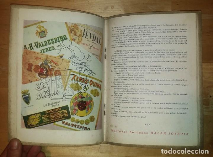 Catálogos de Música: 1944 Temporada de Opera. Sevilla. Publicidad de licores. Gonzales Byass Jerez (ver fotos) - Foto 6 - 157967718