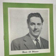 Catálogos de Música: ORIGINAL CATALOGO DISCO DISCOS MARIO DEL MONACO 1960. Lote 158658394