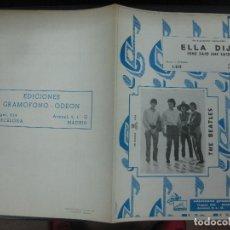 Catalogues de Musique: CANCIONERO THE BEATLES. ELLA DIJO (SHE SAID SHE SAID) VERSION J. CORCEGA 1,215 GRAMOFONO ODEON 1966. Lote 159219542