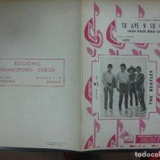Catalogues de Musique: CANCIONERO THE BEATLES. TU AVE Y SU CANCION (AND YOUR BIRD CAN SING) 1.221 ED. GRAMOFONO ODEON 1966. Lote 159220746