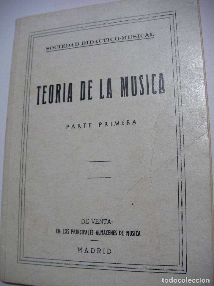 ANTIGUO LIBRO - TEORIA DE LA MUSICA (EM3) (Música - Catálogos de Música, Libros y Cancioneros)