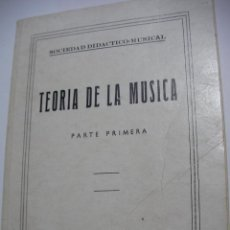 Catálogos de Música: ANTIGUO LIBRO - TEORIA DE LA MUSICA (EM3). Lote 159629294