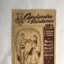 Catálogos de Música: BARCELONA. CANCIONERO DE SARDANAS. CANCIÓN POPULAR (H.1940?). Lote 160165949