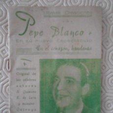 Catálogos de Música: EN EL CORAZON BANDERAS. DE QUINTERO, LEON Y QUIROGA. PEPE BLANCO. ULTIMAS CREACIONES AÑO 1950. CANCI. Lote 161259870