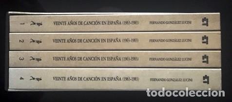 Catálogos de Música: VEINTE AÑOS DE CANCIÓN EN ESPAÑA (1963 - 1983) - F. GONZÁLEZ LUCINI - CAJA CON LOS 4 TOMOS - Foto 3 - 162418410